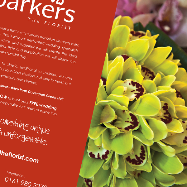 Barkers the Florist advert for Brides Magazine