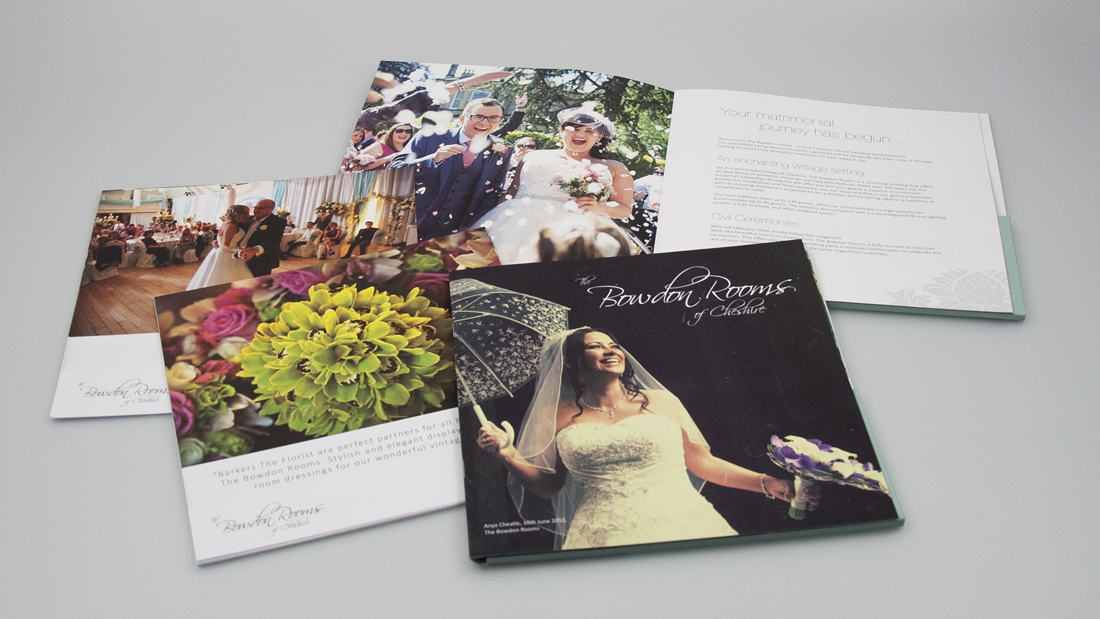 Bowdon rooms - wedding brochure design