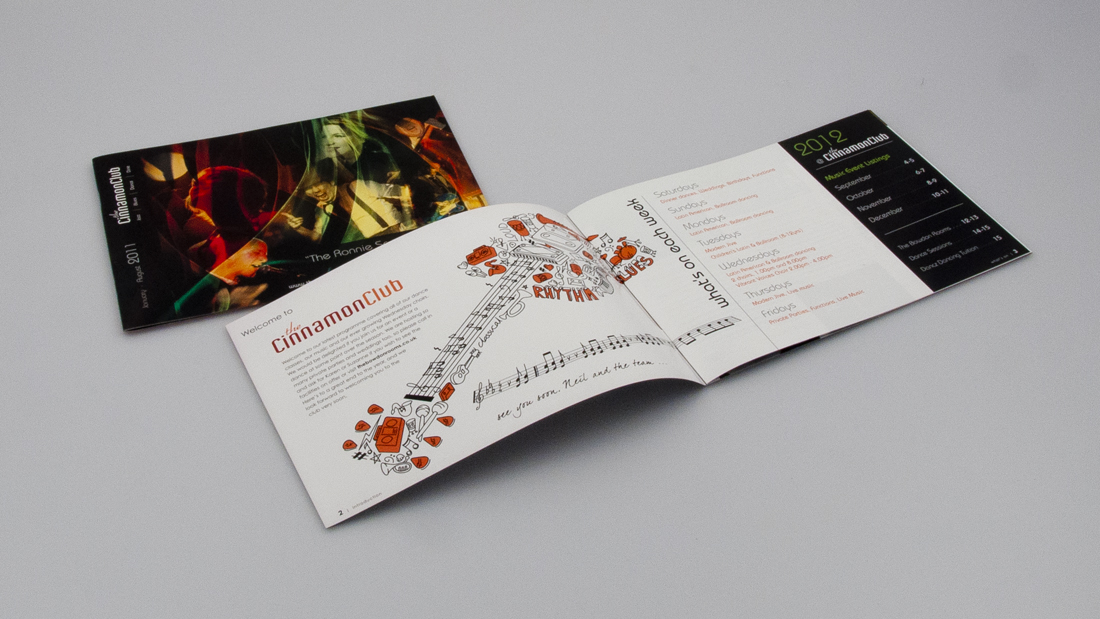 Cinnamon Club Jazz Event Brochure