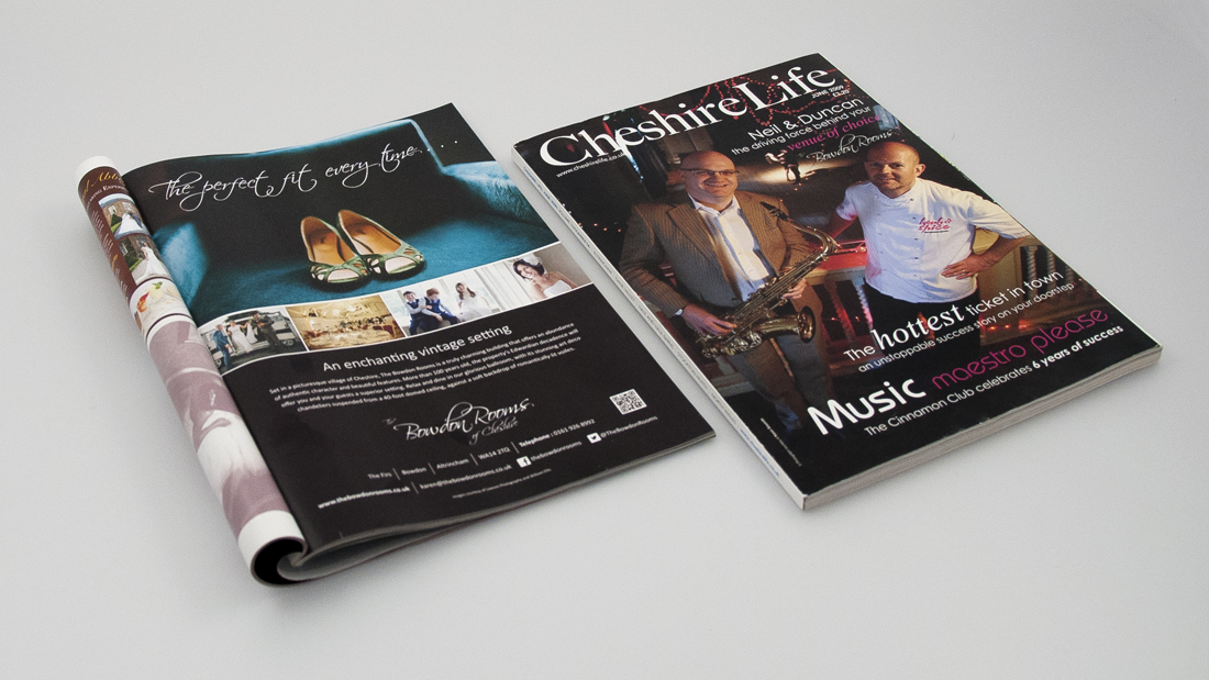 Cheshire life advert design